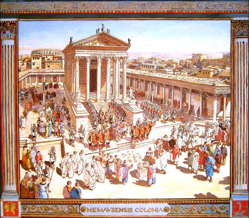 Le forum gallo romain de n mausus par pertus for Maison de la literie nimes